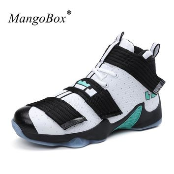 MangoBox Mens Women Basketball Shoes Rubber Basketball Boots New Cheap Sneakers China New Trend Couples Basketball Trainers