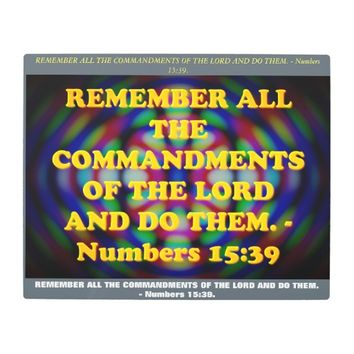 Bible verse from Numbers 15:39. Metal Print