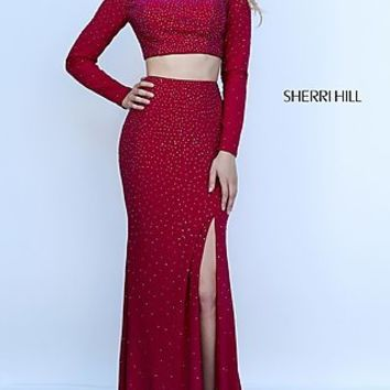 Two Piece Long Sleeve Sherri Hill Dress