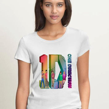 One Direction shirt Women Logo4 Tee 1D Shirt Pop Rock  Women T Shirt