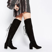 ASOS KOCO Lace Up Over the Knee Boots