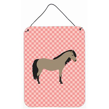 Welsh Pony Horse Pink Check Wall or Door Hanging Prints BB7910DS1216