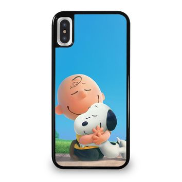 SNOOPY AND CHARLIE BROWN THE PEANUTS iPhone 5/5S/SE 5C 6/6S 7 8 Plus X/XS Max XR Case Cover