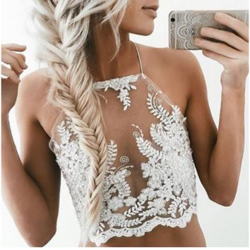 Embroidered SEXY PLACE TOP