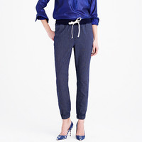 SIDELINE PANT IN INDIGO-STRIPE CHAMBRAY
