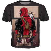 """Deadpool ❤️ Harley"" T-Shirt"