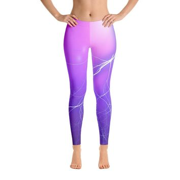 Soft Purple Lightning Leggings