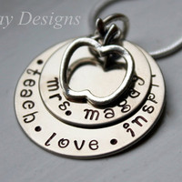 Hand Stamped Teacher's Pendant