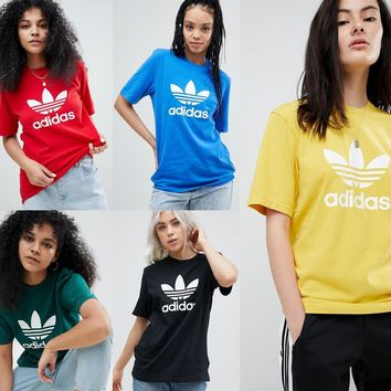 adidas originals adicolor trefoil oversized t shirt