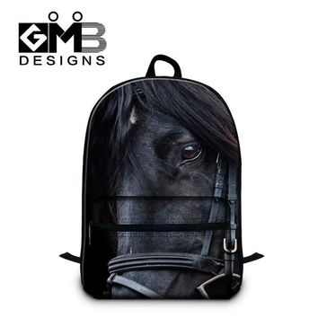 Girls bookbag Horse 3D Printed Bookbags for Youth,Boys Cool Back to School backpack,Laptop Computer backpack for girls,Children's Cute Mochila AT_52_3