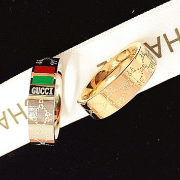 Day-First™ GUCCI Women Fashion Plated Ring Jewelry