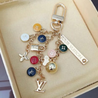 Louis Vuitton LV New Flower Metal High Quality Colorful Key Chain Bag Buckle Key Chain