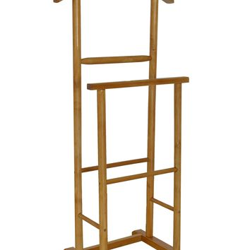 Antiqued Double  Men Suit Valet Stand with Suit Hanger
