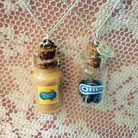 Peanut butter and oreo best friend necklaces