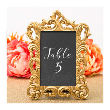 Gold Picture Frame Size 4 X 6 Baroque Table Number Frames Future Wedding