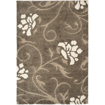 Safavieh Florida Shag Smoke & Beige Area Rug & Reviews | Wayfair