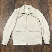 London Fog Spectator Style Cream Menswear Jacket Coat Mens Size 38 Reg (Small)