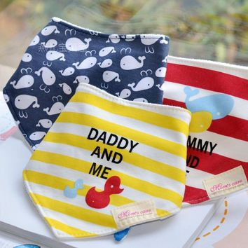 3pcs/set Baby Bibs Cotton Bandana Bibs Infant Babador Saliva Bavoir Towel baberos bebes Babadores For Newborn Baby Girls Boys
