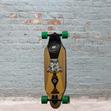 "Madrid Glow In the Dark Lamp Bamboo 31"" Longboard"