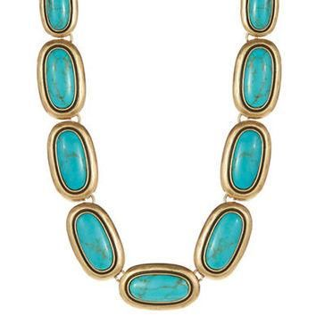 Lauren Ralph Lauren Oval Turquoise Collar Necklace