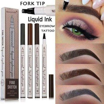 3 Tip Waterproof Eyebrow Microblading Ink Pen Tattoo 3D Fork Makeup USA Seller