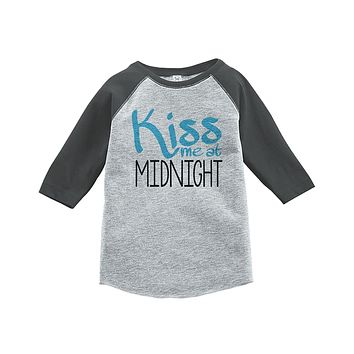 Custom Party Shop Kids Kiss Me At Midnight Happy New Year Raglan Shirt