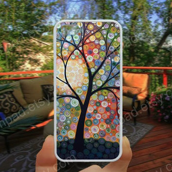 Colorful Life trree  painting phone case 4/4s case iphone 5/5s/5c case samsung galaxy s3/s4 case galaxy S5 case Waterproof gift case 494