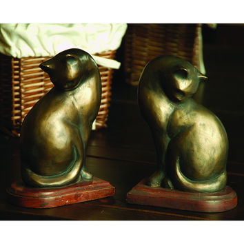 Cat Bookends Pair