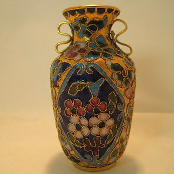 1920's Japanese Twisted Wire Cloisonne Bud Vase