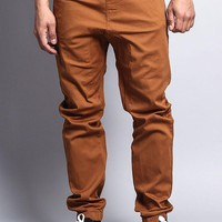 Men's Jogger Twill Pants JG804 (Dark Wheat)