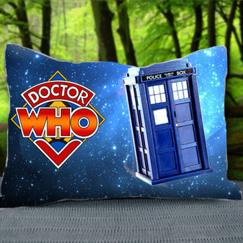 "Cool Blue DR WHO Tardis Police Box Custom Pillow Case 30"" x 20"""