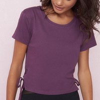Midi Tee With Lace-Up Sides