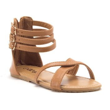 74548fe4f Toddler Girls  Gladiator Sandals with Back Zipper Open Toe Shoes