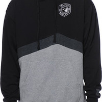 Famous Stars & Straps Patch Black & Grey Pullover Hoodie