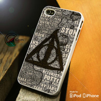 Harry Potter Logo iPhone 4 5 5c 6 Plus Case, Samsung Galaxy S3 S4 S5 Note 3 4 Case, iPod 4 5 Case, HtC One M7 M8 and Nexus Case