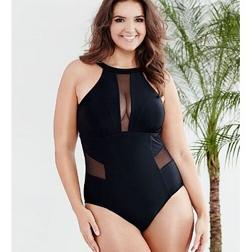 Women Plus Size Backless Swimsuit