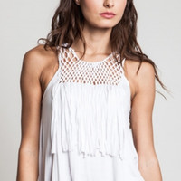 Falling For Fringe Tank - CLOSEOUT