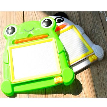 1pc High Quality Creative Writing Painting Animal Frog Baby Educational Kids Toys Preschool Tool Drawing Board Toys for Children
