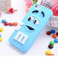 iphone 6 4.7inch Light Blue M&M's Candy Silicone Cell Phone Case