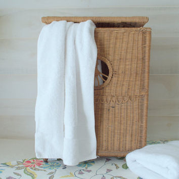 Wicker Laundry Hamper with Lid, Wicker Laundry Hamper Basket, Vintage Laundry Hamper