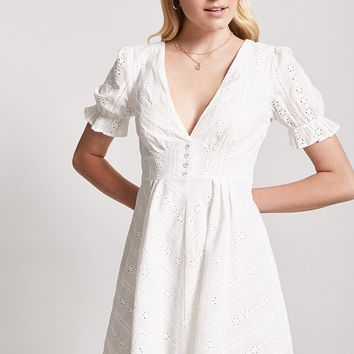 Plunging Crochet Dress - Women - New Arrivals - 2000253266 - Forever 21 Canada English