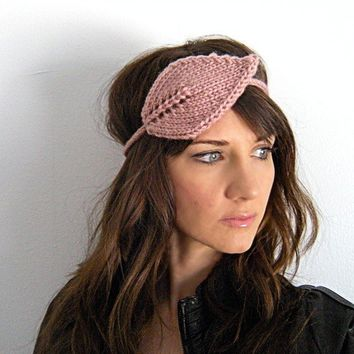 Headband of the leafy kind Dusty Rose by KittyDune on Etsy