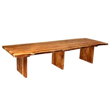 12' Freeform Live Edge Table with 3 Legs | Rosewood