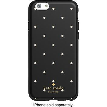 kate spade new york - Larabee Dot Hybrid Hard Shell Case for Apple® iPhone® 6 - Black/Cream