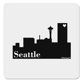 "Seattle Skyline with Space Needle 4x4"" Square Sticker by TooLoud"