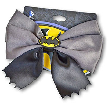 Batman Hair Bow Perfect for Cosplay, Spring, Summer, and School Dances. Sturdy Hairstyle Accessory for Braids, Thick Hair and Ponytails. Silky Material, Great Details, Quality Piece