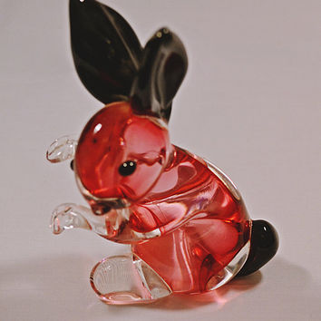 Archimede Seguso, Murano Glass, Bunny, Blown Glass,