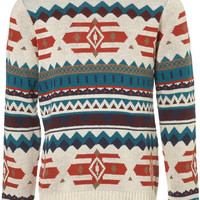 Cream Pattern Jumper - Holiday Jumpers  - Holiday Shop