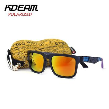 Fashion Men Square Polarized Sunglasses Designer Sport Sunglasses Women Mirror UV400 With Peanut Box