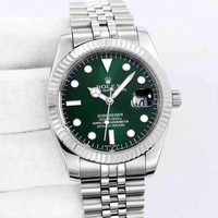 Rolex Lover Unisex Fashion Trending Quartz Movement Watch Sliver+Green G